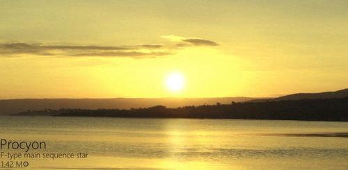 夕日を太陽以外の恒星にしたら07