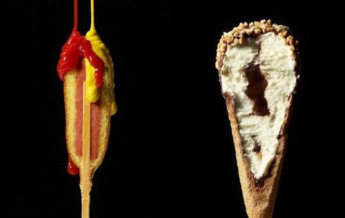アメリカンドッグとアイスクリーム