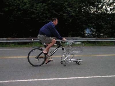 確かに合理的ではある前輪が買い物キャリー