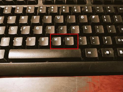 MとNのキーボード位置を交換01