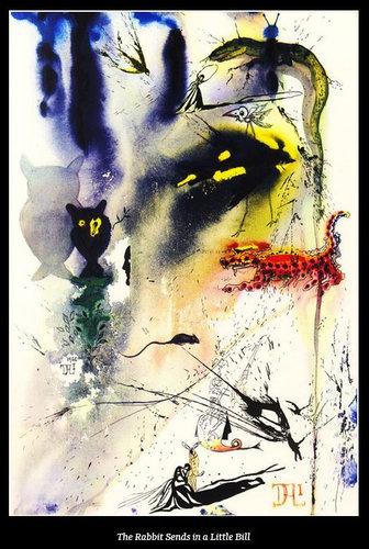 ダリが描いた不思議の国のアリス05
