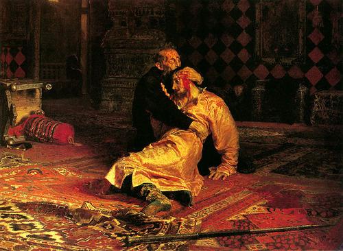 イリヤ・レーピン 「イワン雷帝と皇子イワン」