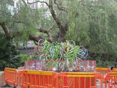 自転車クリスマスツリー03
