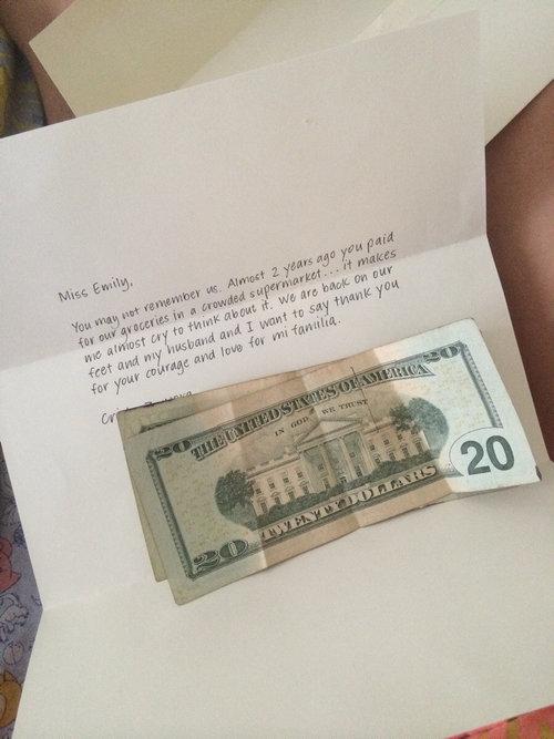 食料品を肩代わりしたらお礼の手紙をもらった01