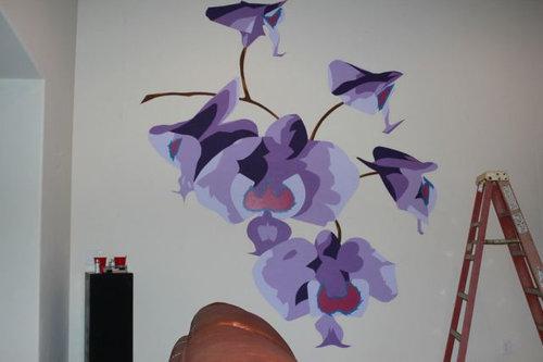 エンジニアが壁に蘭を描いた08