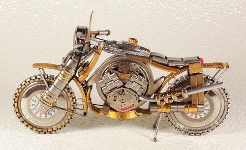 時計で作ったバイク12