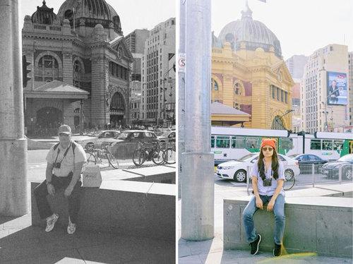 娘が亡くなった父の旅先と同じ場所・同じポーズで記念写真11