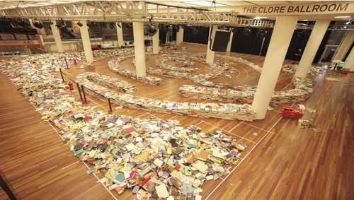 25万冊の本で迷路07