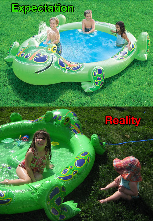 ビニールプールの理想と現実08
