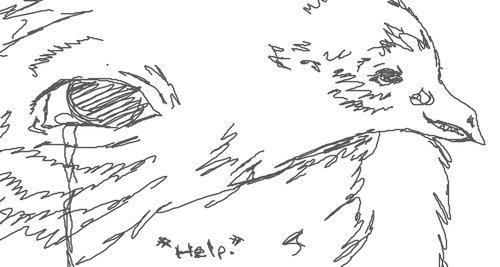 鳥に見えるクチバシ07