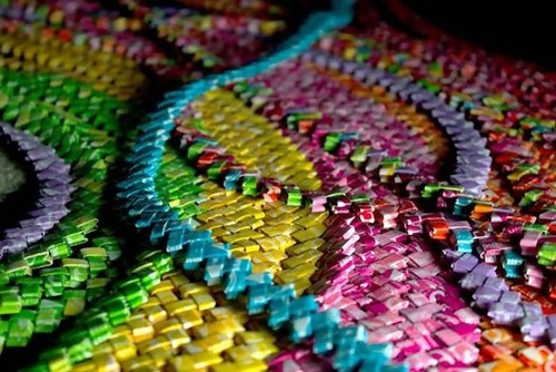 キャンディの包み紙でドレス02