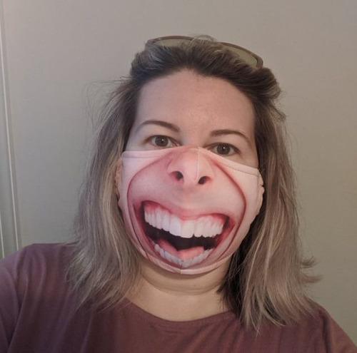 口元の印刷をしたマスク02