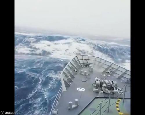 軍艦が撮影した動画01
