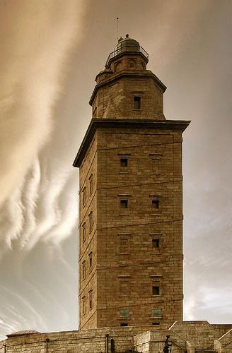世界の灯台-エルクレス(ヘラクレス)の塔(スペイン)