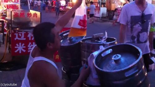 中国のビールの飲み方01