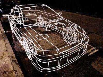 ワイヤーフレームの車10