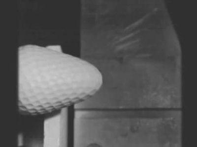 ペチャンコのゴルフボール