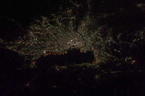 ISSから見た夜景04