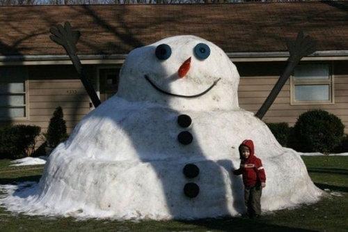 変わった雪だるま10