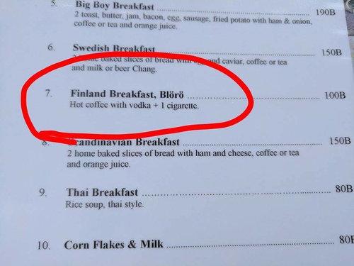 フィンランドの朝食01