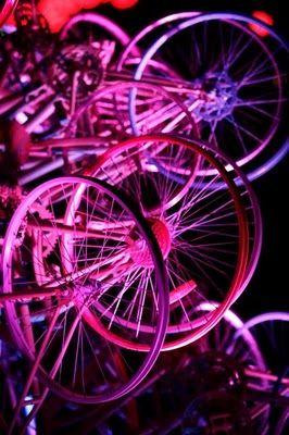 自転車クリスマスツリー09