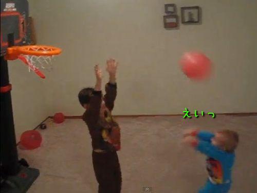 バスケの天才2歳児