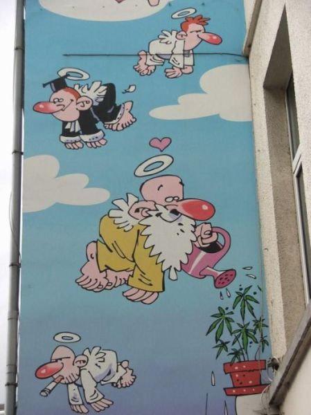 ベルギー・ブリュッセルに描かれたコミックス・グラフィティ12