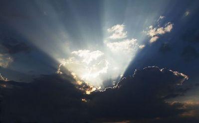 「天使のはしご」薄明光線07