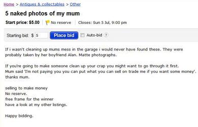 母親のヌード写真売ります