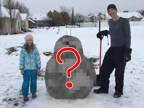 今年一番の雪だるま00