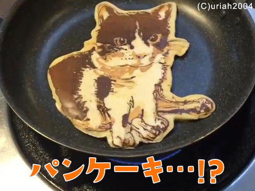 猫のパンケーキアートすごい00