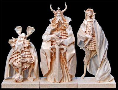 神レベルの素敵な折り紙-ロード・オブ・ザ・リングの3人