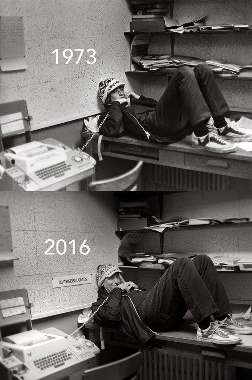 ビル・ゲイツ氏が高校時代の写真を再現01