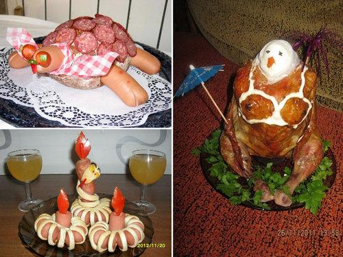 ロシア流の料理デコレーション13
