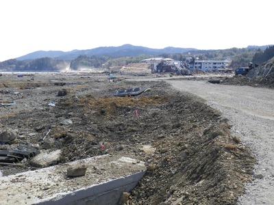 津波にさらわれた集落