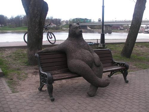 ロシアのクマの像02