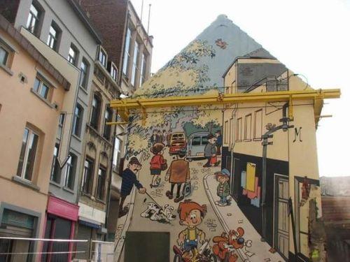 ベルギー・ブリュッセルに描かれたコミックス・グラフィティ00