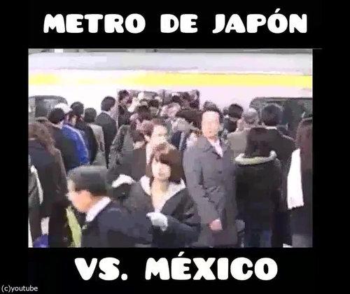 「日本の満員電車とメキシコの満員電車」02