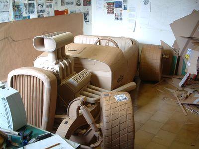 ダンボールアート-14クラシックカー