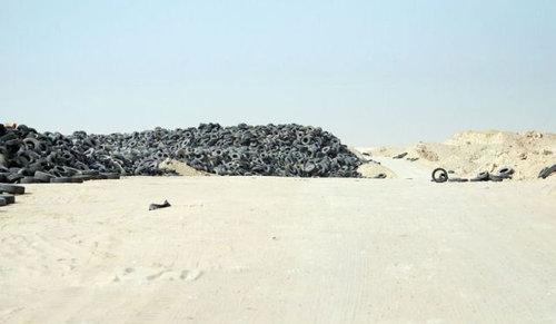 クウェートのタイヤ廃棄01