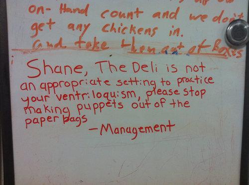 スーパーの同僚シェーンが上司を悩ます08
