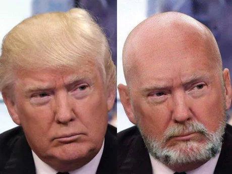 トランプ大統領が色白で頭が薄かったら02