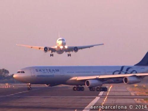 バルセロナ空港のニアミス01