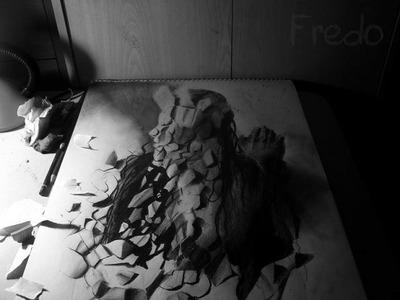 立体鉛筆画06