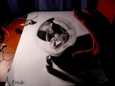 立体鉛筆画05