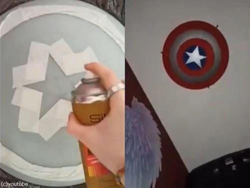 キャプテンアメリカの盾の照明を自作00