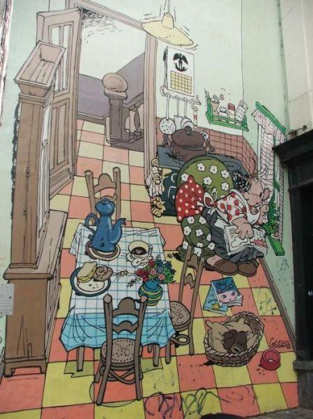 ベルギー・ブリュッセルに描かれたコミックス・グラフィティ05