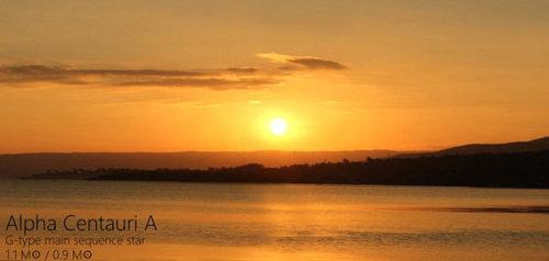 夕日を太陽以外の恒星にしたら06