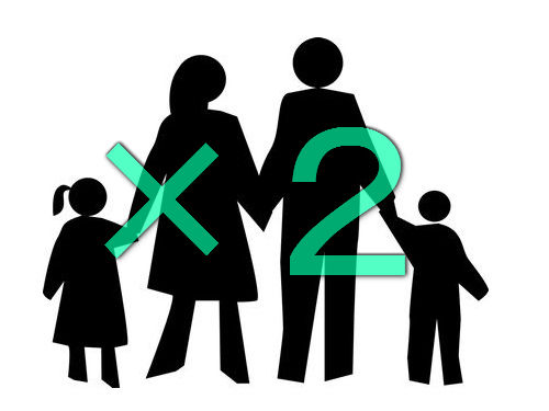 双子が双子と結婚→双子と双子が生まれる00