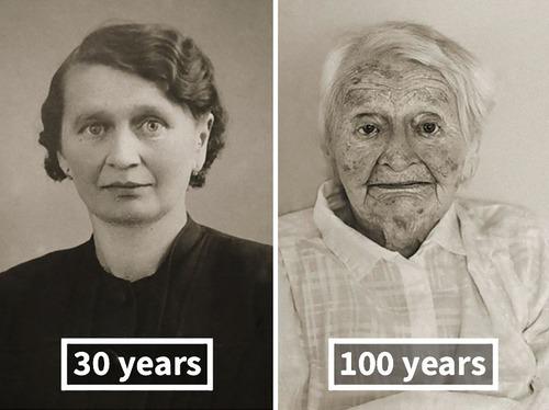 100歳越えの人の若い頃05